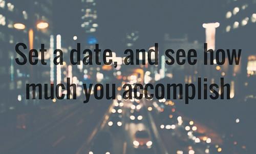 set a date