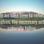 take time to reflect quote