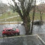 Portland, Oregon in the rain
